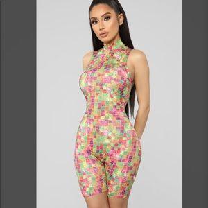Fashionnova Trick of the Trade Romper Jumpsuit